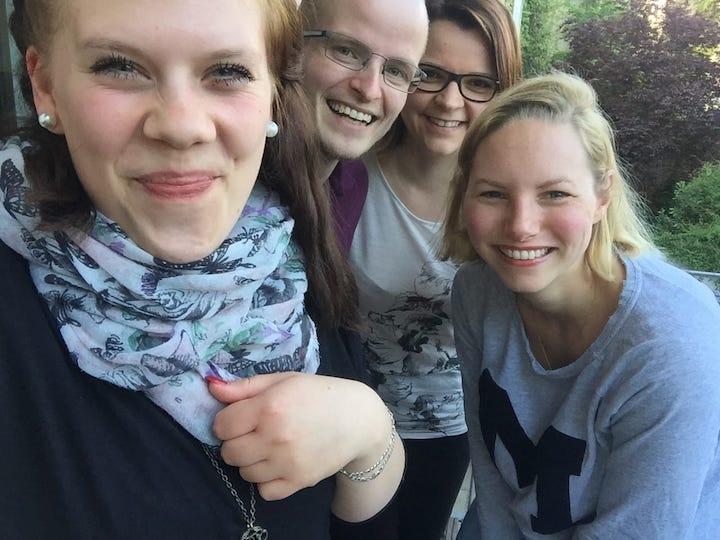 Sabrina, Benni und Maxi besuchten mich im Sommer 2017 zu Hause in Berlin
